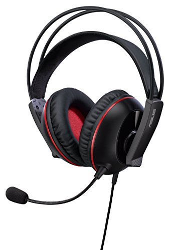ASUS CERBERUS Gaming headset with large 60mm neodymium drivers, designed  for both PC gaming and mobile use (Red)